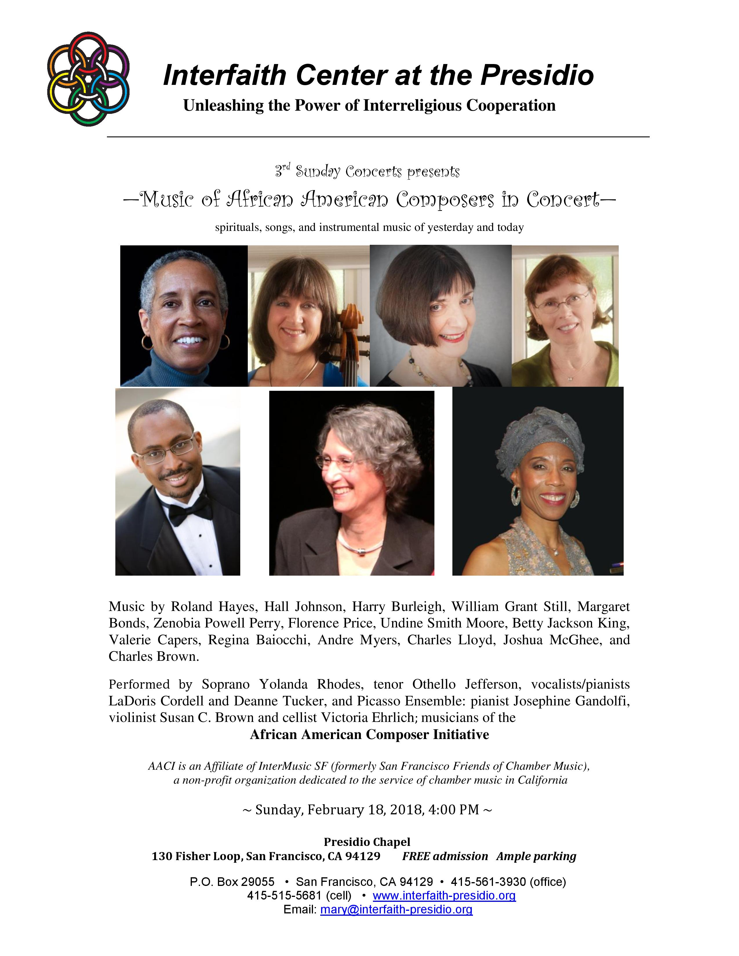 Music of African American Composers in Concert | San Francisco