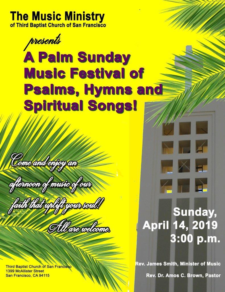 Palm Sunday Music Festival of Psalms, Hymns, Spiritual Songs