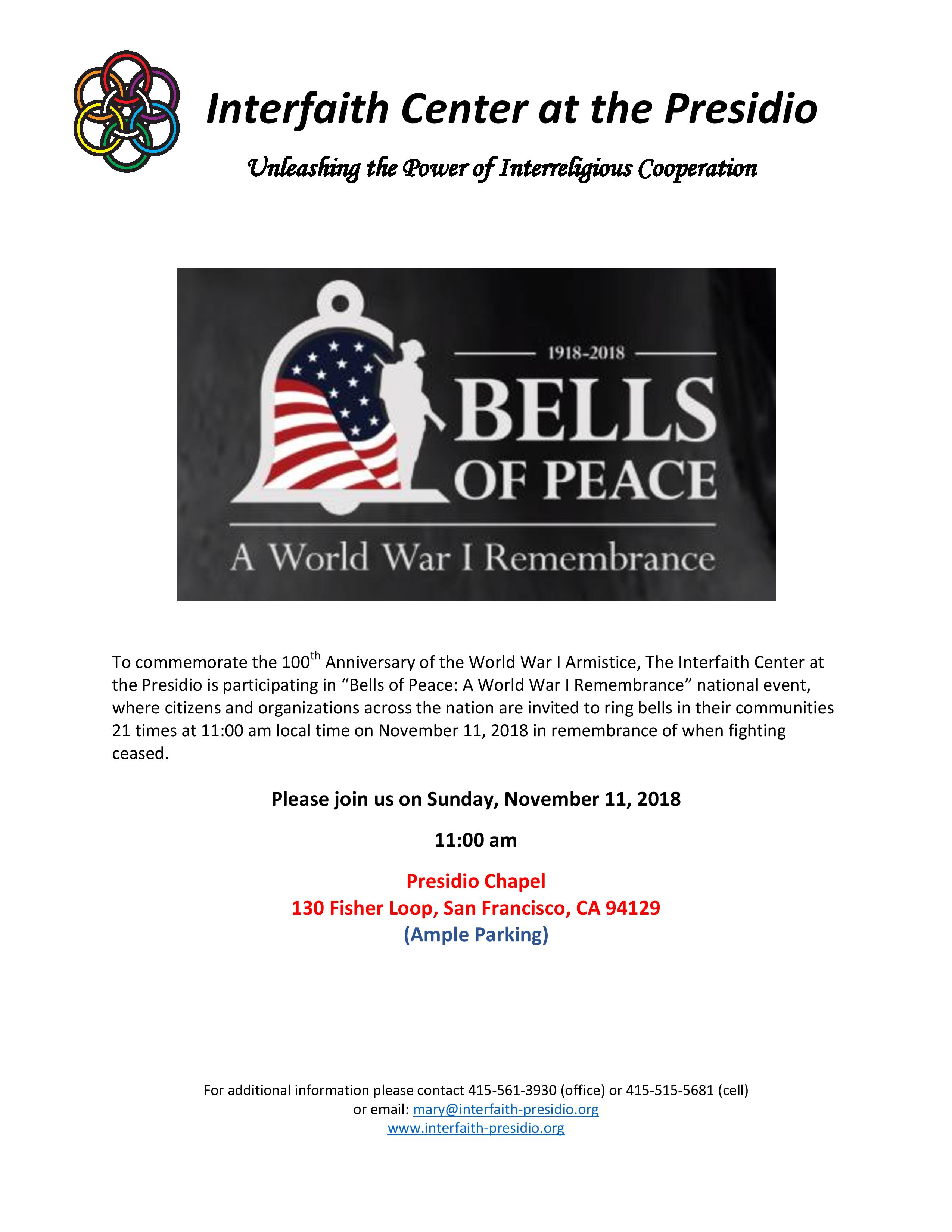 Bells of Peace - A World War I Remembrance | San Francisco